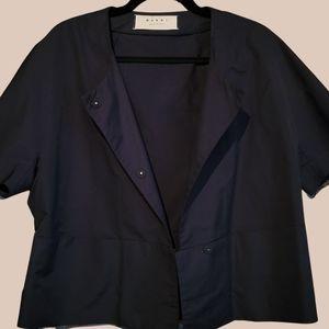 MARNI short sleeved black button up shirt jacket